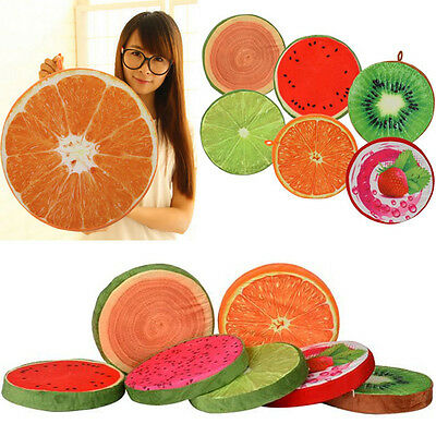 Creative 3D Fruit Throw Pillow Plush Sofa Car Cushion Chair Seat Back Pad Gift