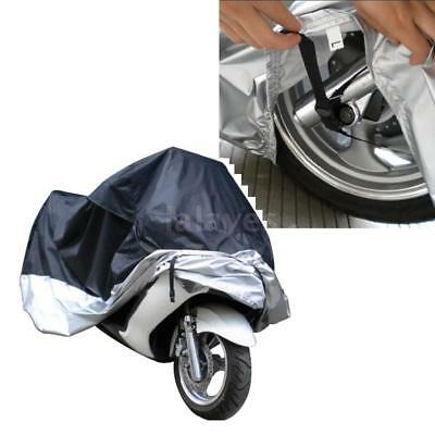 Waterproof Storage Cover For Motorcycle Motorbike Scooter Moped Size L