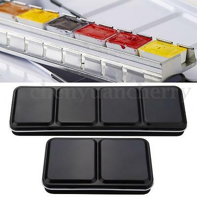 12/24 Half Pans Palette Case Iron Box For Watercolor Oil Artist Drawing Painting