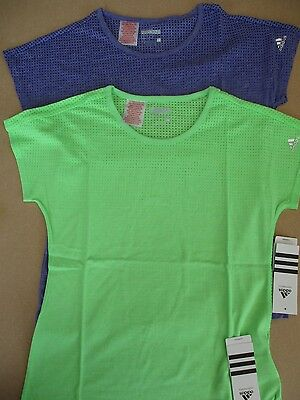 ADIDAS PERFORMANCE YOUTH GIRLS CLIMACOOL FLUORESCENT GREEN T-SHIRT TOP S17688