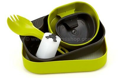 Wildo Camp-A-Box Complete, Outdoor Mess Set With Cups Spork Shaker & Lid Swedish