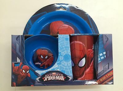 SPIDER-MAN 3-PIECE DINNER SET : Great for Boys : 213 : WH3 : NEW