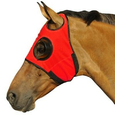 Horse Blinker 1/4 cup Hood Can't See Back Green 15500