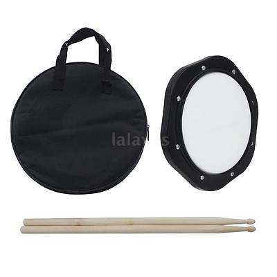 10 inch Drum Practice Pad with Drumsticks Carrying Bag High Quality O3A7