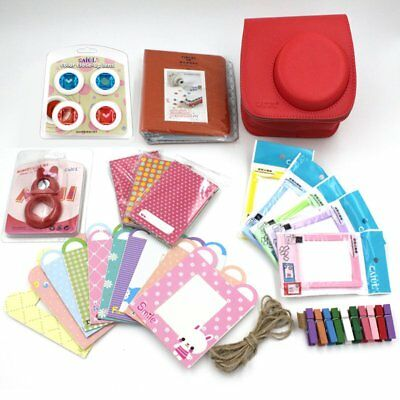 Caiul 7 in 1 Accessories Bundles Red for Fujifilm Instax Mini 8 Instant Camera