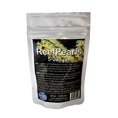 Reef Pearls 5-200µm (microns) Filter Feeders and Coral Food 80g
