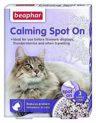Beaphar Cat Calming Spot On Anxiety Relief Reduces Problem Behaviour In Cats
