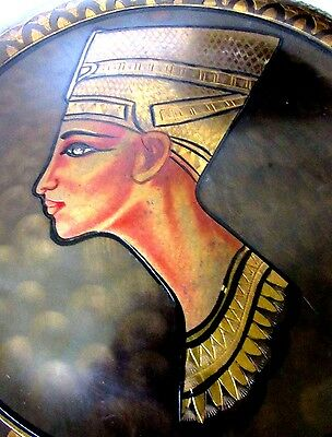 """Egyptian Queen Nefertiti Brass Engraved Hand Made Plate-Many Patterns 11 3/4"""""""