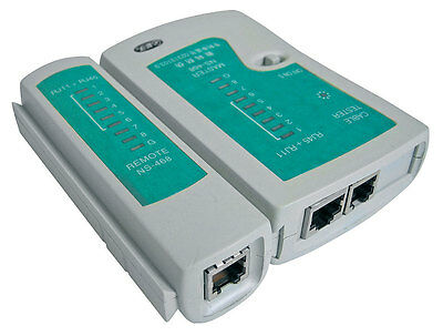 RJ11 RJ45 Internet Ethernet Network LAN A-DSL Telephone Cable Lead  Tester