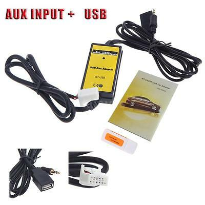 Car USB Aux-in Adapter MP3 Player Radio Interface for Toyota Camry/Corolla P4Z0