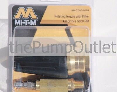 Mi-T-M Pressure Washer Rotating Turbo Nozzle  4.0 Orifice 5800 PSI AW-7500-0004