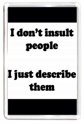 Fridge Magnet Don't Insult People Speak Spoken Truth Fact Quotes Saying Gift
