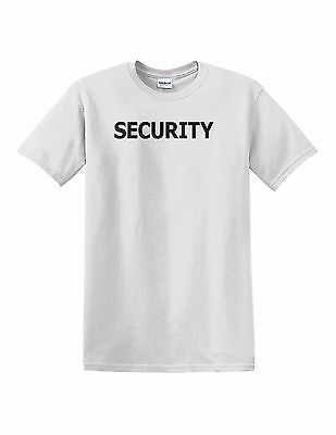24ea SECURITY T-Shirt Custom Screen Printed On Front & Back S - XL $5.95ea