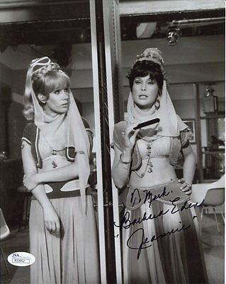 BARBARA EDEN HAND SIGNED 8x10 PHOTO      I DREAM OF JEANNIE      JSA     TO MIKE