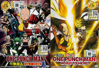 ONE-PUNCH MAN (VOL 1-12End ) + OVA:Road To Hero DVD *English Sub_Free  Shipping