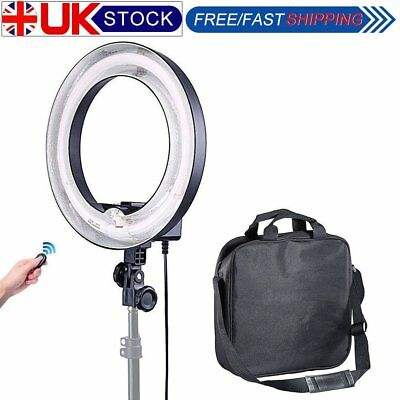 Studio 34cm 400W 5500K Fluorescent Ring Light for Makeup Beauty Photo Video UK