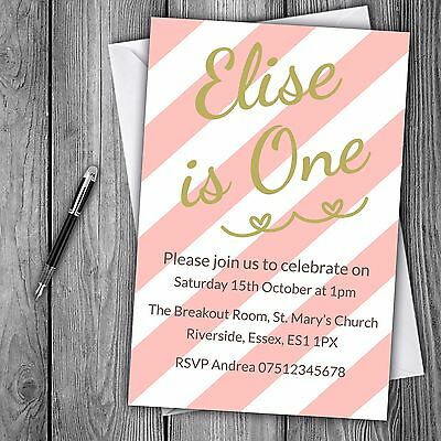 First 1st Birthday Invitations Personalised Party Free Delivery Free Envelopes