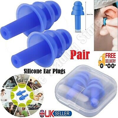 Anti Snore Anti Noise soft silicon Ear Plugs Foam for Sleep  reusable new 2 pack