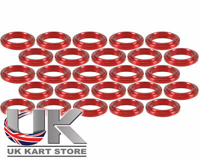 Wheel Spacer 5mm x 17mm Red Pack of 25 UK KART STORE