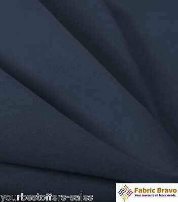 Navy Blue Fabric PolyCotton Fabric By The Yard 60 Wide Fabric Cotton Broadcloth