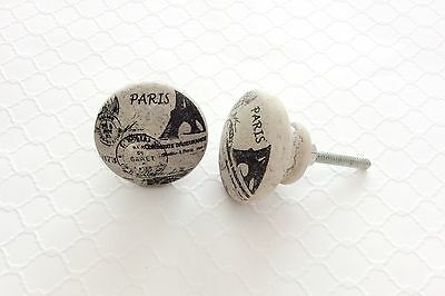 Bathroom Cabinet Drawer Knobs Pulls Paris Home Decor Eiffel Tower French Decor