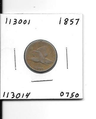 Uncertified Copper Nickel 1857 Flying Eagle Cent - # 113001