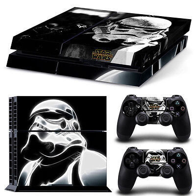Star Wars Sticker Decal Skin For PS4 Console + 2 Controllers