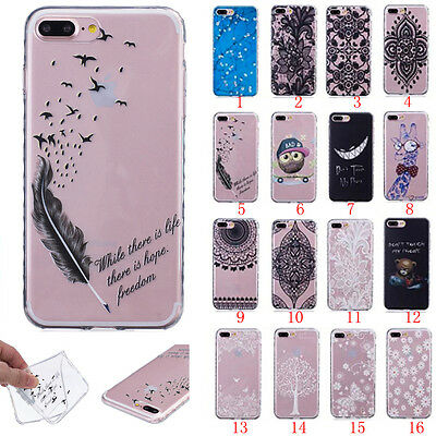 Slim Clear Soft Silicone TPU Rubber Gel Back Case Cover For Samsung iPhone LG