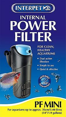 Interpet 2200 Internal Aquarium Power Filter PF Mini for Fish Tanks - Black/B...