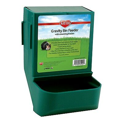 Gravity Bin Feeder For Rabbit Guinea Pig Hutch Cage