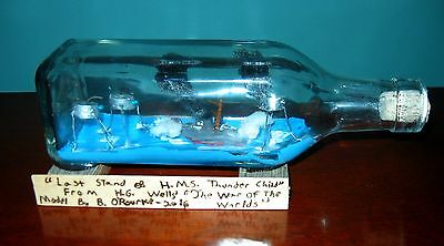 Brendan O'Rourke SIGNED Ship in a Bottle- -WAR of the WORLDS- USA Craftsman No.3