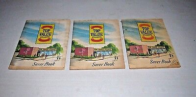 Vintage 1960'S Top Value Stamps Saver Book 3 Complete Book Set