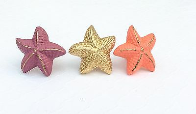 Nautical Cabinet Drawer Knobs Pulls Starfish Ocean Beach Decor