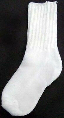 Baby Goods  Hosiery Baby Size Knitted Socks - White Color 12 Pairs (HSY0315 ^)