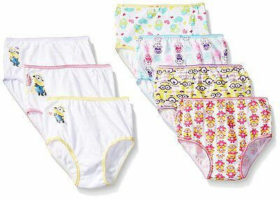 Despicable Me Toddler Girls Minion 7 Pack Panty Underwear NWT Size 4T 100%Cotton