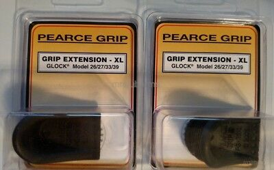 Lot of 2 - Pearce Grip Extension Glock 26 27 33 39 XL Magazine Mag Ext PG-26XL