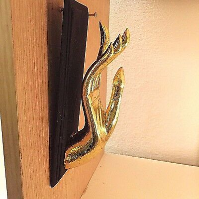 Vintage Wood Hand Gold Art Carved Buddha Wall Hanging Sculpture Home Decor New