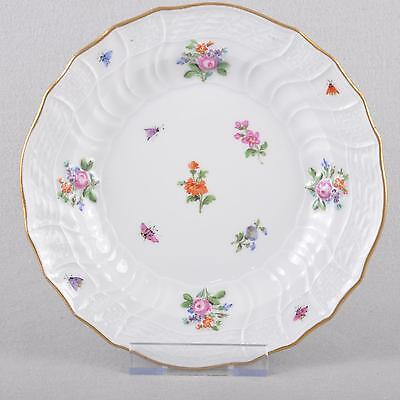 Meissen Scattered flowers und Insects Plate,neubrandenstein,20cm um 1850,1choice