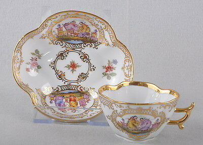 Meissen Cup With Chinoi series by Höroldt /Chinese Painting, Quatrefoil