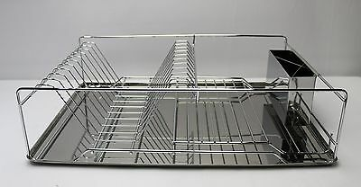 New Stainless Steel Dish Rack with Utensil Drainer 23204