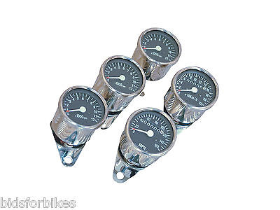 MOTORCYCLE MECHANICAL CHROME MINI SPEEDO TACHO KPH 65mm mspkmh