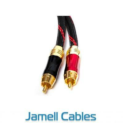 3m Ultra Premium 2RCA Male to 2RCA Male Stereo Audio Cable