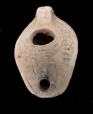 Byzantine terra-cotta oil lamp  with Cross