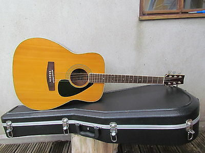 1970 39 s yamaha fg 180 1 black label acoustic guitar