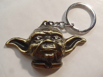 PORTE CLES MAITRE YODA STAR WARS 2012 EN METAL neuf science fiction visage