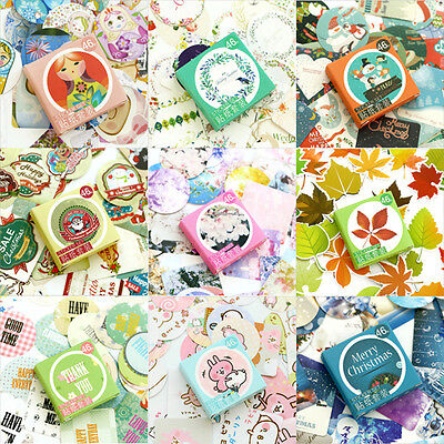 46 pcs/pack Label Stickers Set Decorative Stickers DIY Diary Album Stick