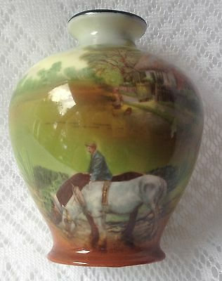 "Victoria Austria ""AFTER THE DAYS WORK"" Vase with inscription 'Mary 1911' (238)"