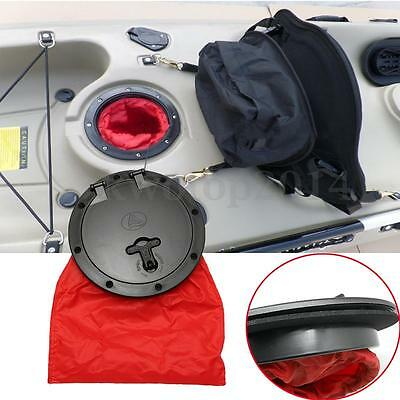 6'' inch Marine Hatch Cover Deck Pull Out Plate W/ Bag For Boat Kayak Canoe