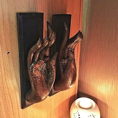 Vintage Wood Hand Art Carved Buddha Wall Hanging Sculpture Home Decor New