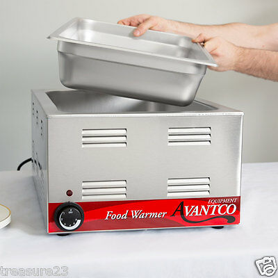 "Avantco W50 12"" x 20"" Electric Countertop Food Warmer - 120V, 1200W 177W50"
